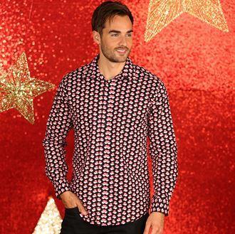 Kerst Overhemd.Kerst Overhemd Met Kerstmannen Havaga Gifts Goodies Orginele