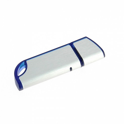 Usb flash zilver- blauw of rood